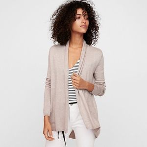Express Roll Neck Open Front Cardigan Sweater